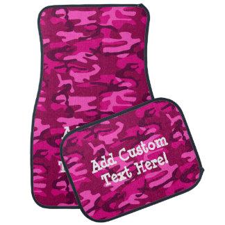 Custom Personalized Dark Pink Fuchsia Camo Girl's Car Mat