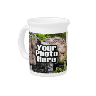 Custom Personalized Digital Photo Add Your Picture Beverage Pitchers