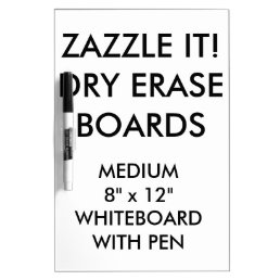 Custom Personalized Dry Erase Board Blank Template