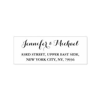 Custom Personalized Elegant Wedding Return Address Rubber Stamp
