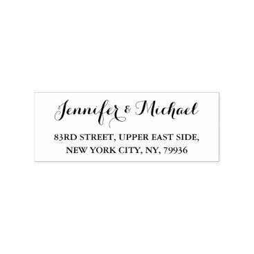 iCoolCreate Custom Personalized Elegant Wedding Return Address Rubber Stamp