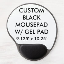 Custom Personalized Ergonomic Mousepad w/ Gel Pad