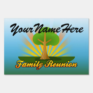 Custom Personalized Family Reunion Yard Sign