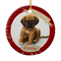 Custom Personalized First Christmas Dated Ornament