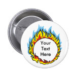 Custom Personalized Flames Buttons