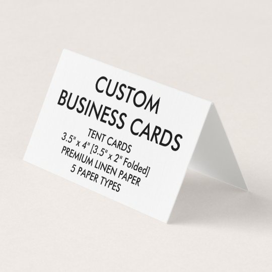Custom Personalized Folded Tent Business Cards Zazzle