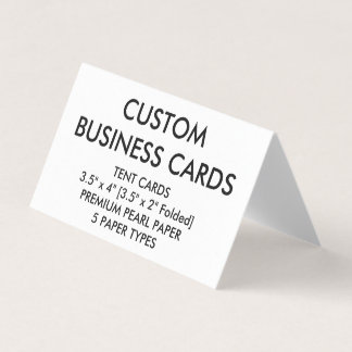 Custom Personalized Folded Tent Business Cards