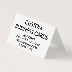 Folded business cards zazzle custom personalized folded tent business cards colourmoves