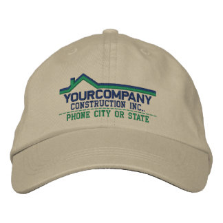 Custom Personalized for Your Construction Business Embroidered Baseball Hat