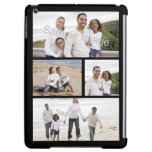 Custom Personalized Four Photo Collage Black iPad Air Case