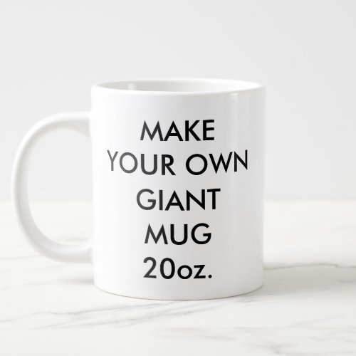 Custom Personalized Giant Jumbo Mug 20oz