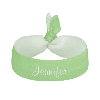 Custom personalized girls name green hair tie