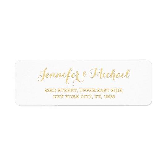 custom personalized golden wedding return address label zazzle com