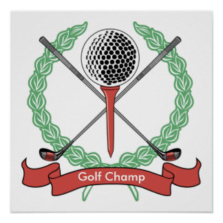 Custom Personalized Golf Posters