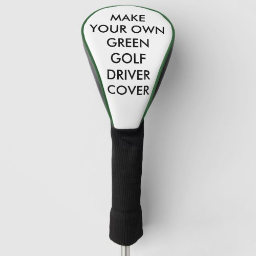Custom Personalized Green Golf Driver Club Cover