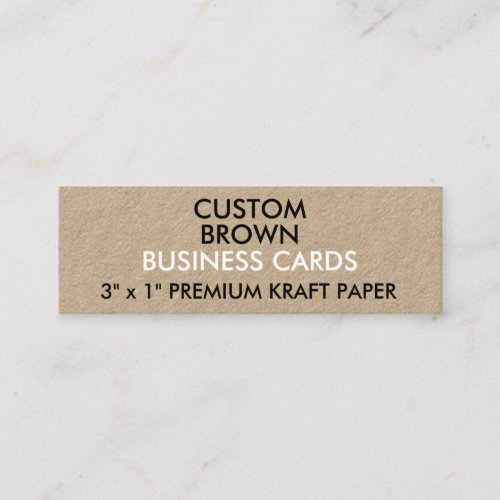 Custom Personalized KRAFT Slim Business Cards