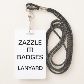 Custom Personalized LANYARD BADGE