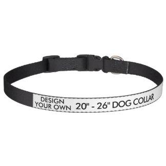 "Custom Personalized Large 20"" - 26"" Dog Collar"