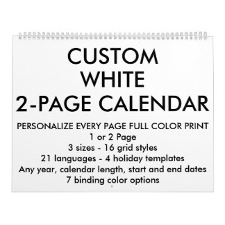 Custom Personalized Large 2-Page Calendar
