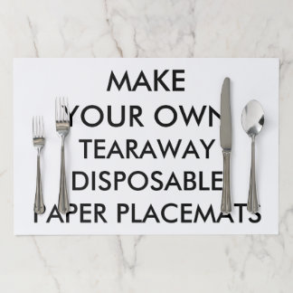 Custom Personalized Large Tearaway Paper Placemats