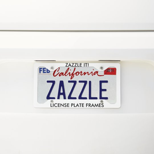 Custom Personalized License Plate Frame Blank | Zazzle.com