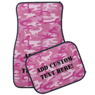 Custom Personalized Light Pink Camo Girl's Car Mat