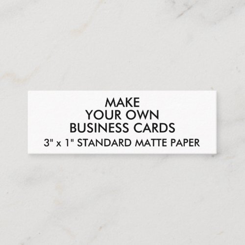 Custom Personalized MATTE Slim Business Cards
