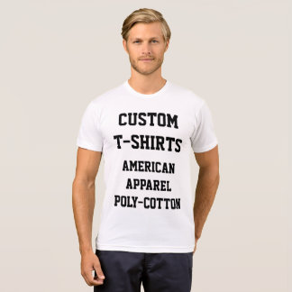 Custom Personalized Men's POLY-COTTON T-SHIRT