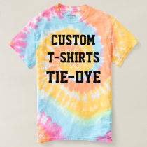 Custom Personalized Men's TIE-DYE T-SHIRT