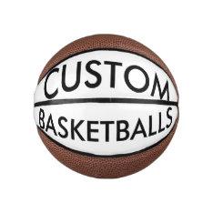Custom Personalized Mini Basketball Blank Template at Zazzle