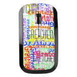 Custom Personalized Name Allover Print Colorful Wireless Mouse