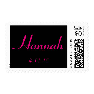 Custom Personalized name and date stamp