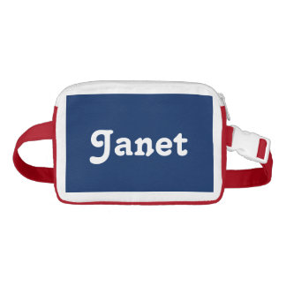 Custom Personalized Name Navy Blue Red Fanny Pack