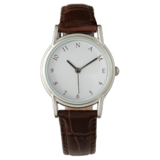 Custom Personalized Name Womens Ladies Wrist Watch
