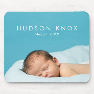Custom Personalized Newborn Baby Photo Gift Mouse Pad