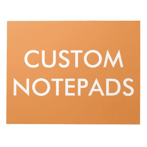 Custom Personalized Notepad Blank Template