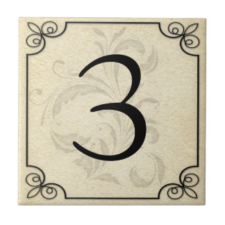 Custom Personalized Number/Letter Ceramic Ceramic Tile