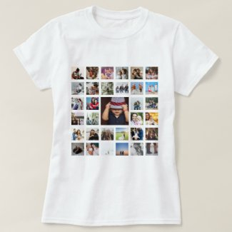 Custom Personalized One Of A Kind Photo Collage T-Shirt