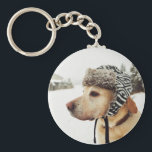 "Custom Personalized Pet Photo Keychain<br><div class=""desc"">Custom printed key chains personalized with your photo and custom text. Add a special photo with your pet and use the design tools to add your own text. Customize it to add more photos and choose from all of the text font and color options to create your own unique pet...</div>"
