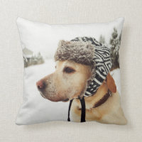 Custom Personalized Pet Photo Throw Pillow