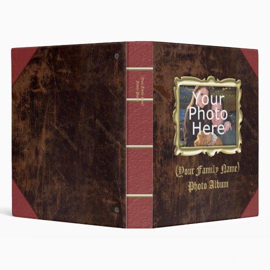 Custom Personalized Photo Album, Vintage Leather Binder