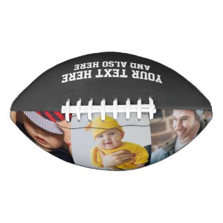 Custom Personalized Photo and Text Football
