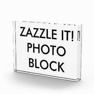 Custom Personalized Photo Block Blank Template