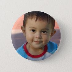 Custom Personalized Photo Button at Zazzle