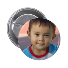 Custom Personalized Photo Button at Zazzle