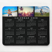 Custom Personalized Photo Collage 2020 Calendar Mouse Pad