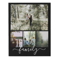 Custom Personalized Photo Collage Family Faux Canvas Print