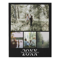 Custom Personalized Photo Collage Faux Canvas Print