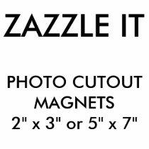 Custom Personalized Photo Cutout Magnet Blank