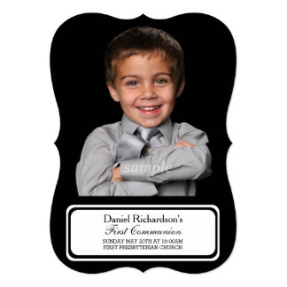 Custom Personalized Photo First Communion Picture Card